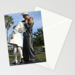 Kissing Sailor And Nurse Portrait Stationery Cards