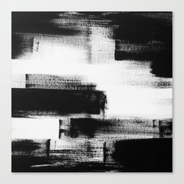 No. 85 Modern abstract black and white painting Canvas Print