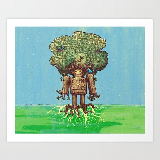 Re-Growth Art Print