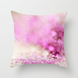 Pink and white shiny glitter effect print - Sparkle Valentine Backdrop Throw Pillow