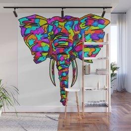 Rainbow Elephant Wall Mural
