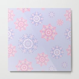 Winter romantic snowflakes Metal Print