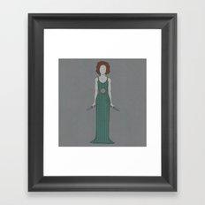 Showdown (Green) Framed Art Print