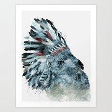 the elder hawk Art Print