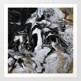 golden marble Art Print
