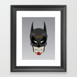 Bat-Man Sugar Skull Framed Art Print