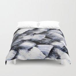White and black Duvet Cover