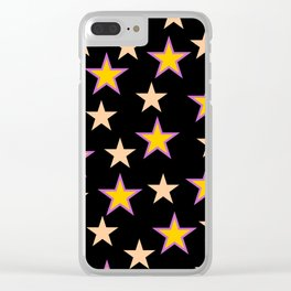 Star pattern on black Clear iPhone Case
