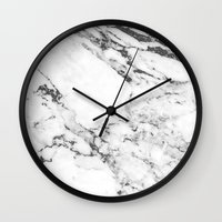 marble Wall Clocks featuring Marble by MatiasMilton