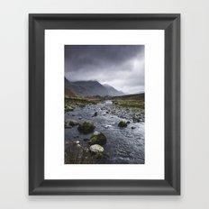 Rain clouds. Gatesgarth, Cumbria, UK. Framed Art Print