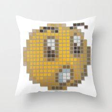 Emoticon Ohh Throw Pillow