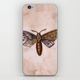 Moth with cogs iPhone Skin