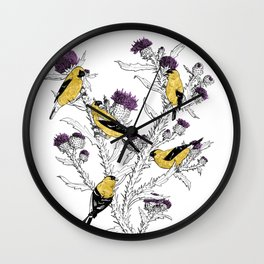 Goldfinches Wall Clock