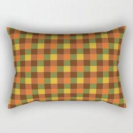 Autumn Plaid Pattern Rectangular Pillow