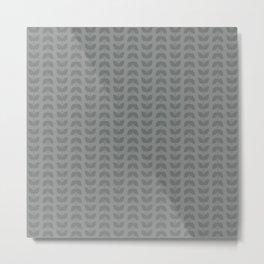 Neutral Gray Leaves Metal Print