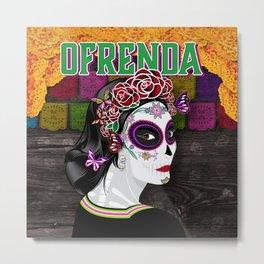 OFRENDA Dia De Los Muertos Metal Print