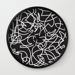Jolly Clips (Black) Wall Clock