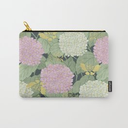 Hydrangeas and Butterflies - Such A Perfect Summer Day Carry-All Pouch
