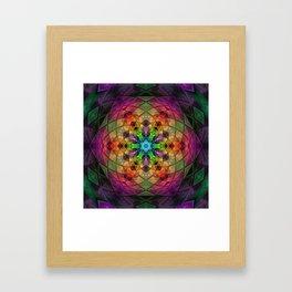 Glowing Mandala Framed Art Print