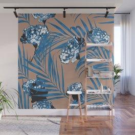 Blue Garden Wall Mural