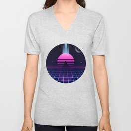 Neon Twilight Unisex V-Neck