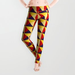 Abstract Triangle Pattern - Colorway #1 Leggings