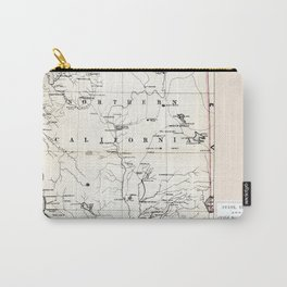 Northern California Map 1866 Carry-All Pouch