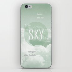 Sky behind the Clouds iPhone & iPod Skin