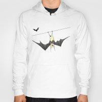 bat Hoodies featuring bat by Alp Adal