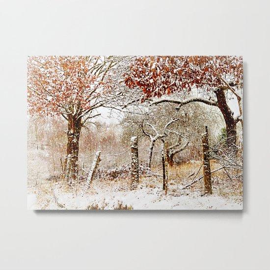 Painterly winter Metal Print