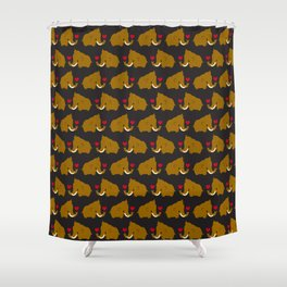 Kawaii mammoths Shower Curtain