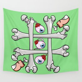 Halloween Tic Tac Toe Wall Tapestry