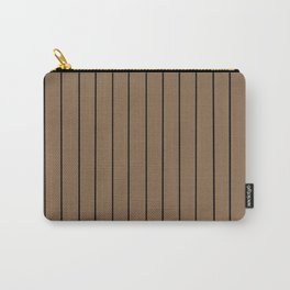Brown with Black Pinstripes Carry-All Pouch