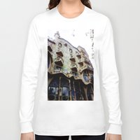 barcelona Long Sleeve T-shirts featuring Barcelona by Bryony Ogilvie