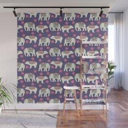 Vintage ethnic Indian elephant wild bear Wall Mural