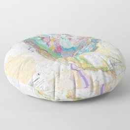 USGS Geological Map Of North America Floor Pillow