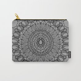 Bohemian Mandala on Gray Carry-All Pouch