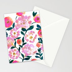 Pretty Pink Flora Stationery Cards