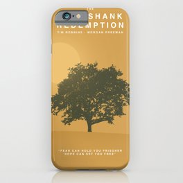 The Shawshank Redemption, 1994 (Minimalist Movie Poster) iPhone Case