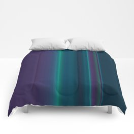 Royal Purple Aqua Stripes Comforters