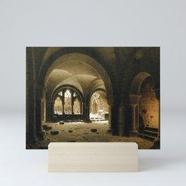 Carl Hasenpflug - Klosterhalle im Schnee Mini Art Print