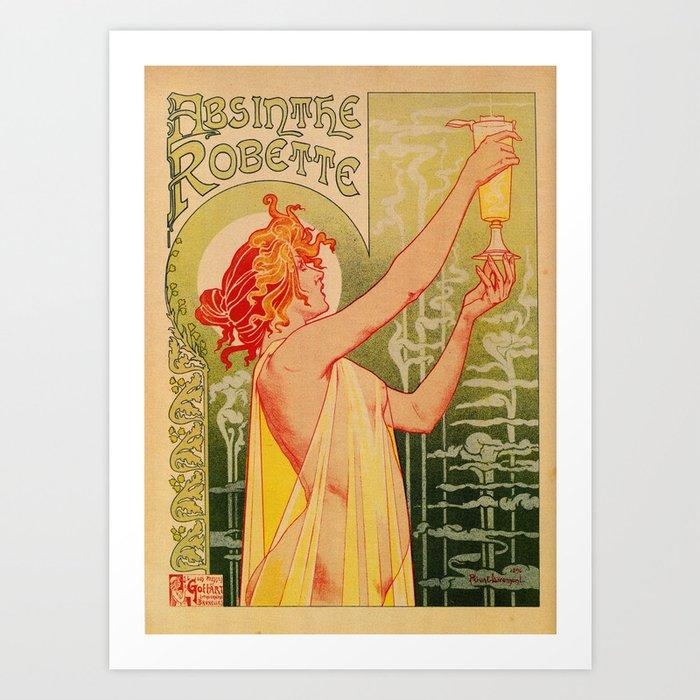 Classic French art nouveau Absinthe Robette Kunstdrucke