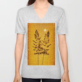 Delicate grasses - light and shadow #1 Unisex V-Neck