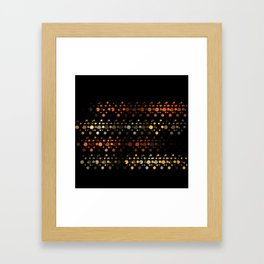 Abstact OrangeYellow Framed Art Print