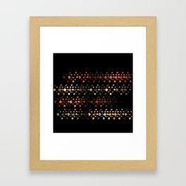 Abstact OrangeYellow Framed Art Print