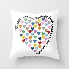 Hearts Heart Teacher Throw Pillow