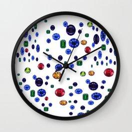 ASSORTED GEMS RAINING Wall Clock