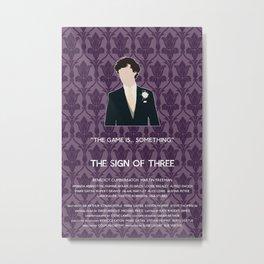 The Sign of Three - Sherlock Holmes Metal Print