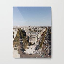 Champs-Élysées Metal Print