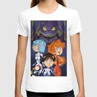 neon genesis evangelion T-shirts featuring Evangelion by Sara Michieli
